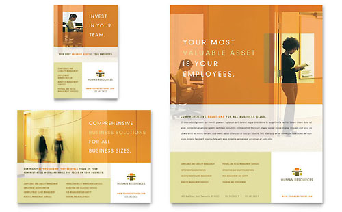 HR Consulting Flyer & Ad Template