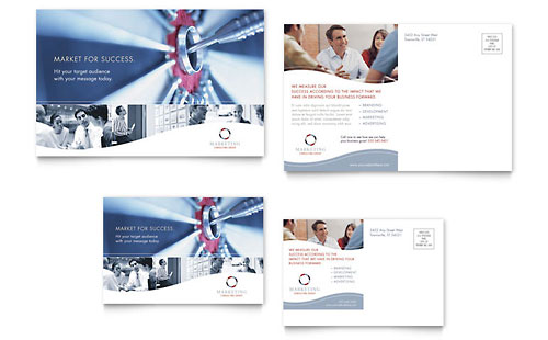 Marketing Consulting Group Postcard Template