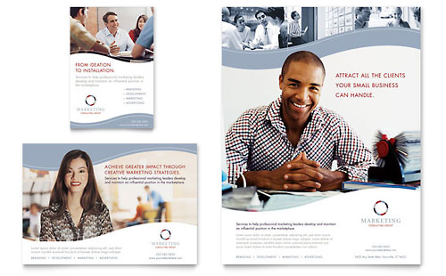 Marketing Consulting Group Flyer & Ad Template