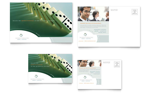 Business Consulting Postcard Template