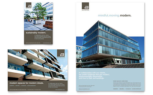 Commercial real estate print ad templates real estate for Commercial real estate brochure template