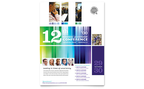 Business Leadership Conference Flyer Template
