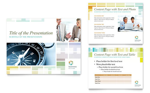 Business Solutions Consultant PowerPoint Presentation Template