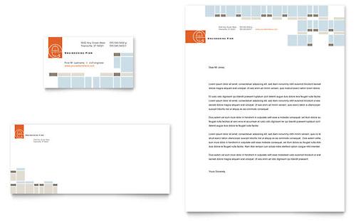 Civil Engineers - Business Card & Letterhead Template