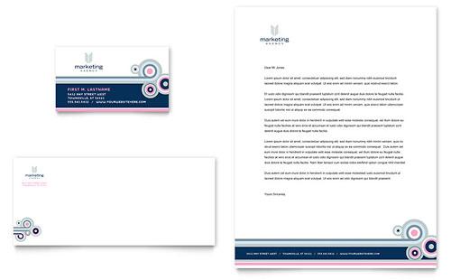 Marketing Agency Business Card & Letterhead Template