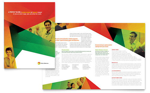 Public Relations Company Brochure Template