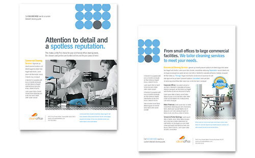 Janitorial & Office Cleaning Datasheet Template