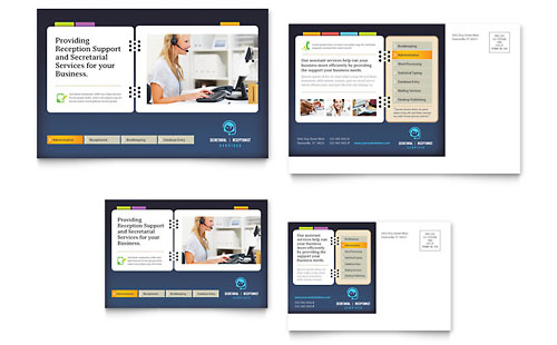 Secretarial Services Postcard Template