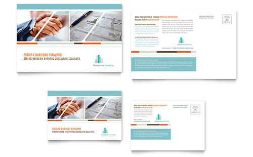 Management Consulting Postcard Template