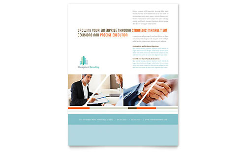 Management Consulting Flyer Template