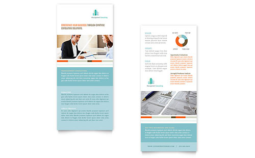Management Consulting Rack Card Template