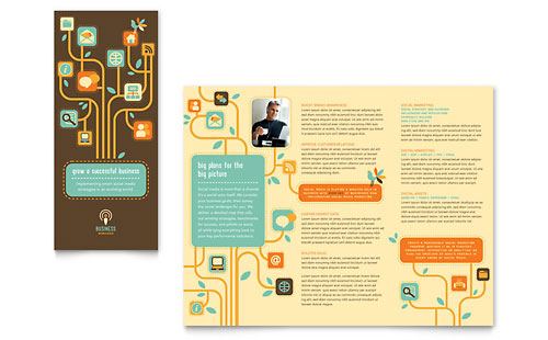 Business Services Tri Fold Brochure Template