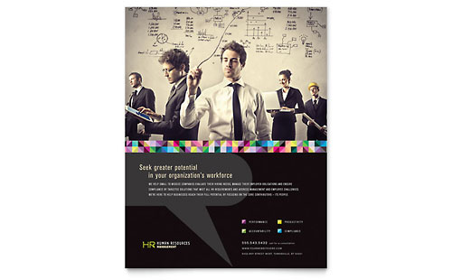 Human Resource Management Flyer Template