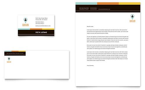 Recruiter Business Card & Letterhead Template