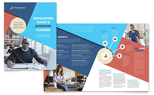 Professional Services Brochures – Business Pamphlet Templates