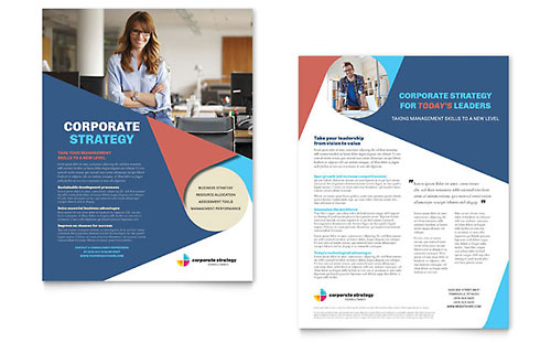 Corporate Strategy Datasheet Template
