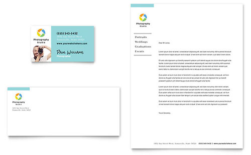 Photographer Business Card & Letterhead Template