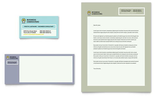 Business Consultants Stationery Template
