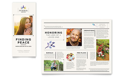 Funeral Services - Sample Tri-Fold Brochure Template
