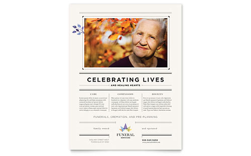 Funeral Services Flyer Template