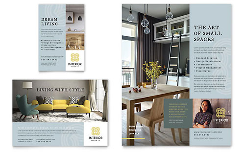 Interior Design Flyer & Ad Template