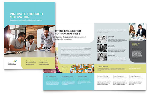 Small Business Consultant Brochure Template - InDesign