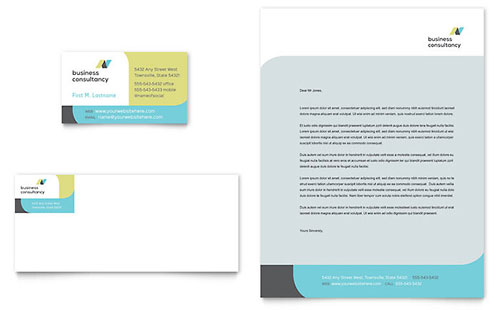 Small Business Consultant Letterhead Template Design