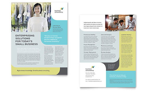 Small Business Consultant Datasheet Template