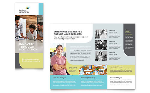 Small Business Consultant Tri Fold Brochure Template