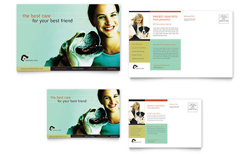 Veterinary Clinic Postcard Template