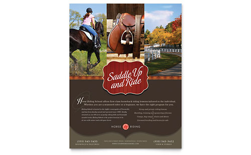 Horse Riding Stables & Camp Flyer Template