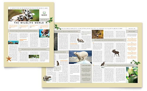 Nature & Wildlife Conservation Newsletter Template