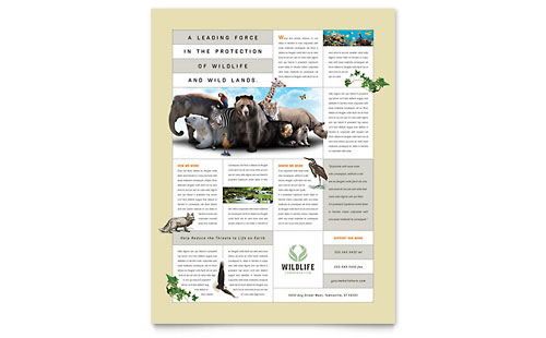 Nature & Wildlife Conservation Flyer Template
