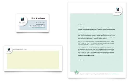 Pet Store Business Card & Letterhead Template