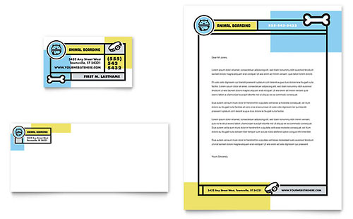 Pet Boarding Letterhead Template