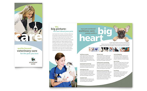 Vet Clinic - Sample Tri-Fold Brochure Template