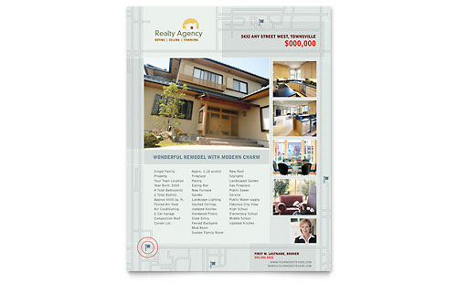 Real Estate Agent & Realtor Flyer Template
