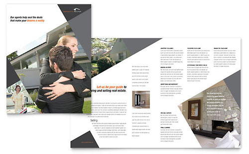 Contemporary & Modern Real Estate Brochure Template