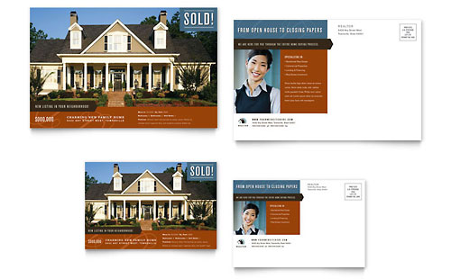 Residential Realtor Postcard Template