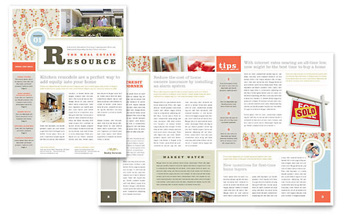 Interior Designer Newsletter Template Design Work Layout Magazine Publisher