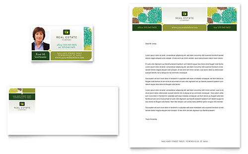 Real Estate Business Card & Letterhead Template