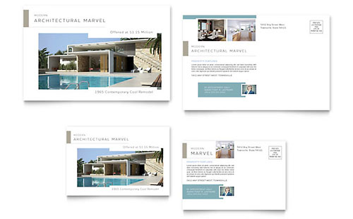 Modern Real Estate Postcard Template