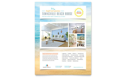 Beach House Flyer Template