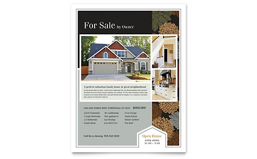 Suburban Real Estate Flyer Template