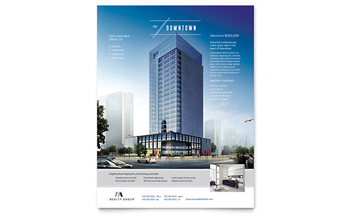 Downtown Apartment Flyer Template