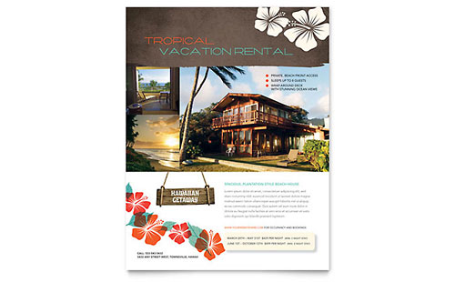 Vacation Rental Flyer Template
