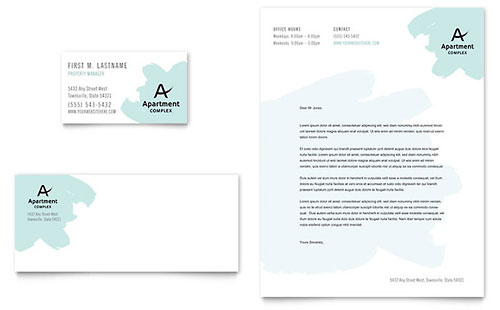 Apartment Business Card & Letterhead Template