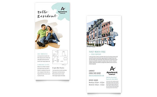 Apartment Rack Card Template