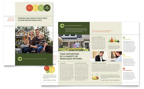 Mortgage Broker Print Design Brochure Template