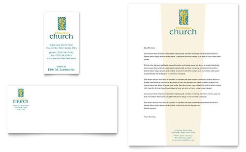 Christian Church Business Card & Letterhead Template